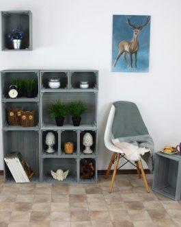 PILKOS Medinės dėžės – lentynos